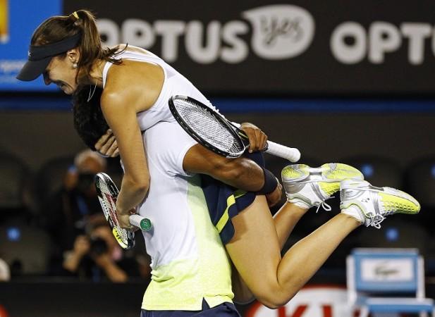Leander Paes Martina Hingis Australian Open 2015