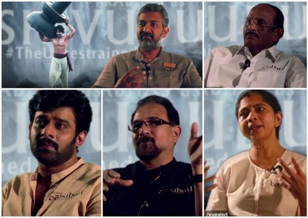 Baahubali Team - SS Rajamouli, V Vijayendra Prasad, Prabhas, Baahubali, Sabu Cyril, Rama Rajamouli