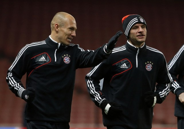 Arjen Robben Thomas Muller Bayern Munich