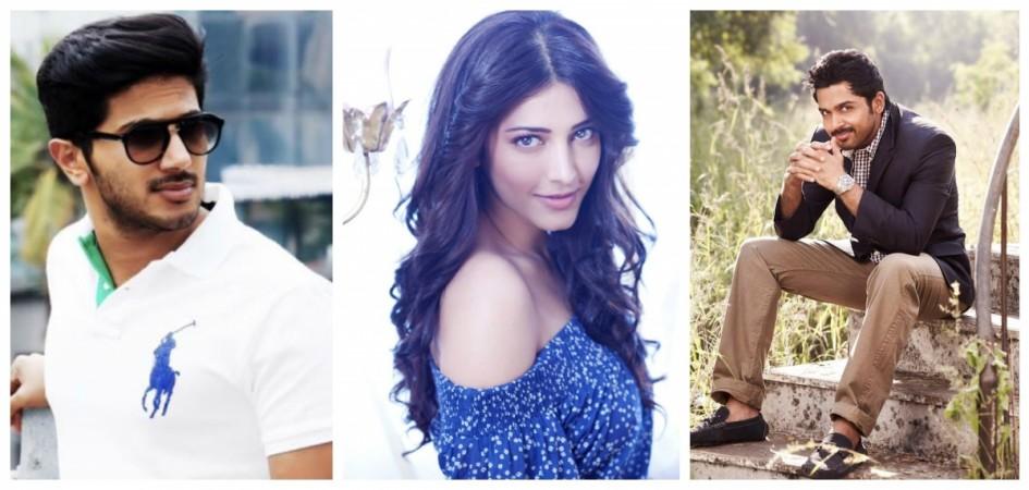 Dulquer Salmaan, Karthi, Shruthi Haasan in Mani Ratnam movie