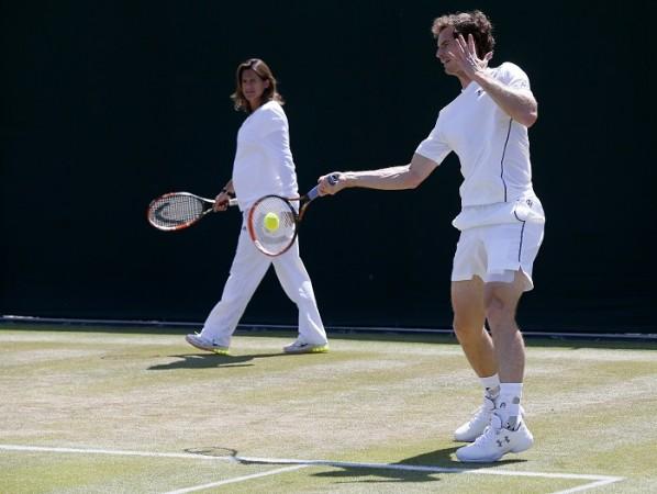 Amelie Mauresmo Andy Murray Wimbledon 2015