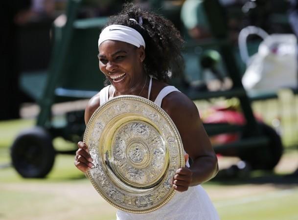Serena Williams Wimbledon 2015 Trophy