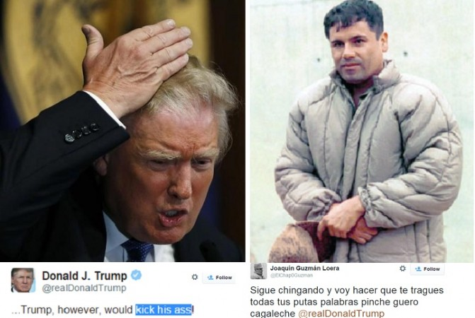 FBI is investigating a threat allegedly sent out by El Chapo Guzman against 2016 Presidential candidate Donald Trump
