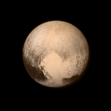 One of the final images taken before New Horizons made its closest approach to Pluto on 14 July 2015.