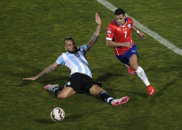 Nicolas Otamendi Argentina Alexis Sanchez Chile