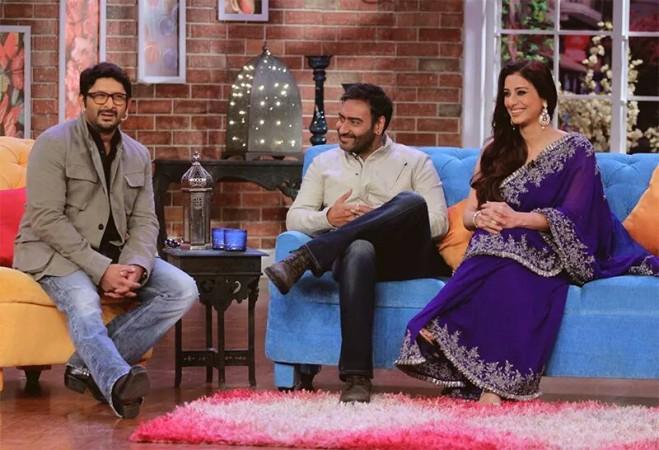 Ajay Devgn, Tabu Promote 'Drishyam' on 'Comedy Nights With Kapil'