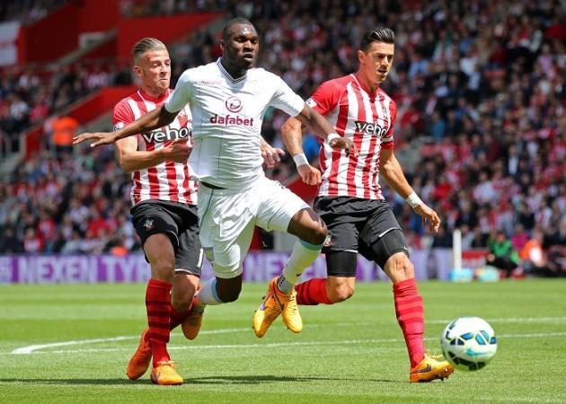 Christian Benteke Aston Villa Toby Alderweireld Jose Fonte Southampton