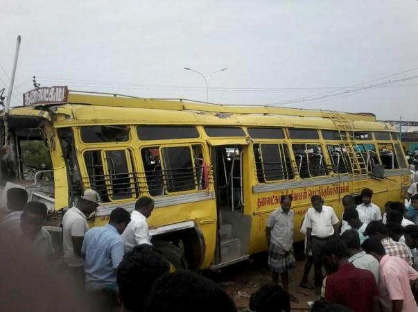 Perambalur  school bus accident