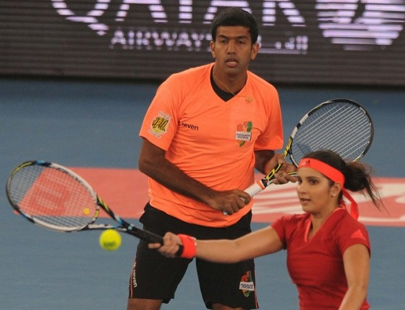 Rohan Bopanna Sania Mirza IPTL Indian Aces