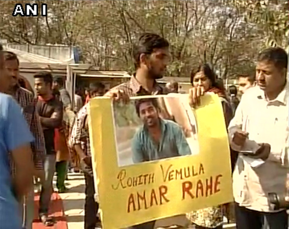 Rohit Vemula protest in Hyderabad