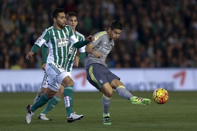James Rodriguez Real Madrid Real Betis