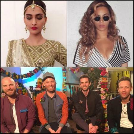 Sonam Kapoor, Beyonce, Coldplay