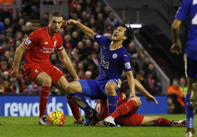 Jordan Henderson Shinji Okazaki Liverpool Leicester City