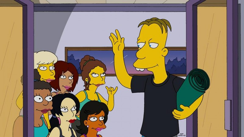 Professor Frink becomes a playboy?