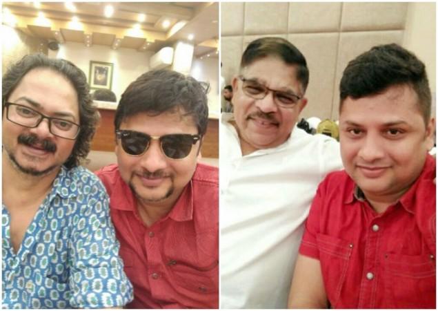 Surender Reddy with Aseem Mishra and Allu Aravind