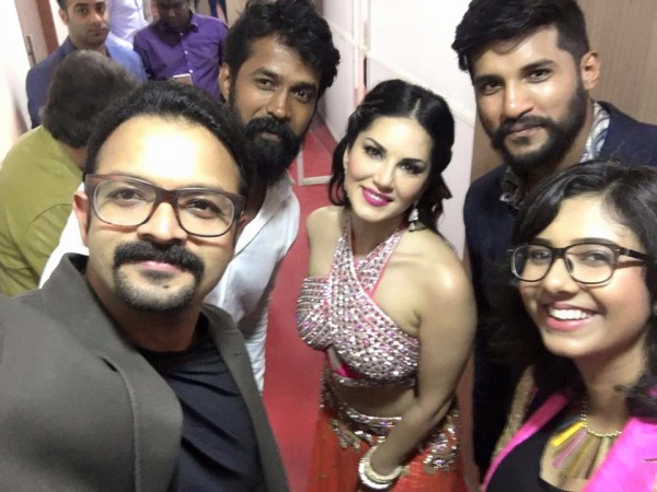 Jayasurya with Sunny Leone