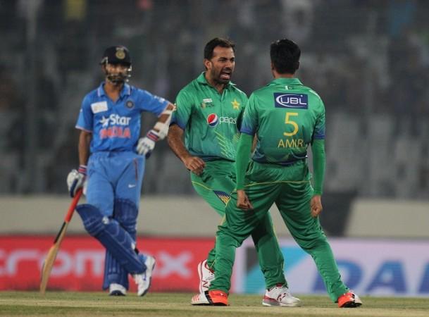 India vs Pakistan, Wahab Riaz,