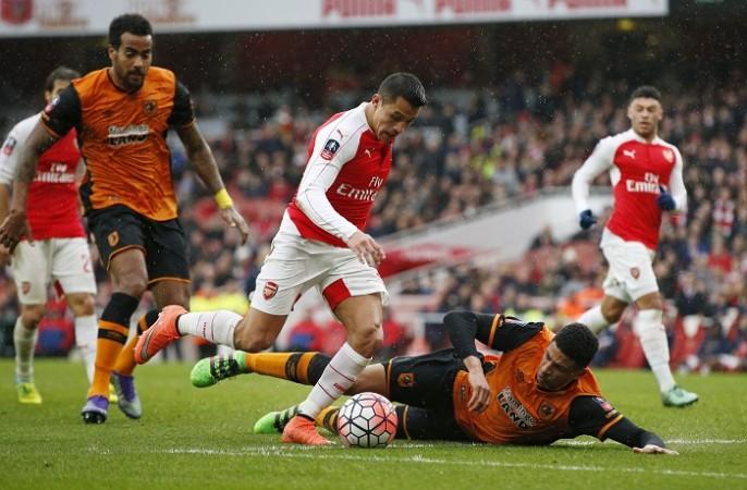 Alexis Sanchez Arsenal Hull City