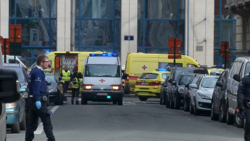 Brussels metro blast