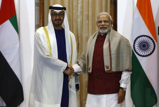 Abu Dhabi Crown Prince in India