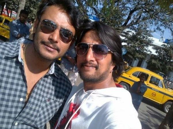 Darshan with Sudeep