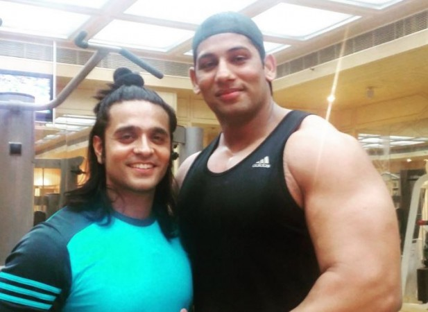 "Danish Akhtar Saifi down with chicken pox. Pictured: Ashish Sharma aka Ram with Danish Akhtar Saifi aka Hanuman of ""Siya Ke Ram"""