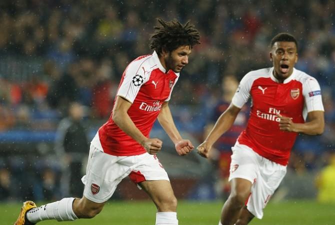 Arsenal Mohamed Elneny Alex Iwobi