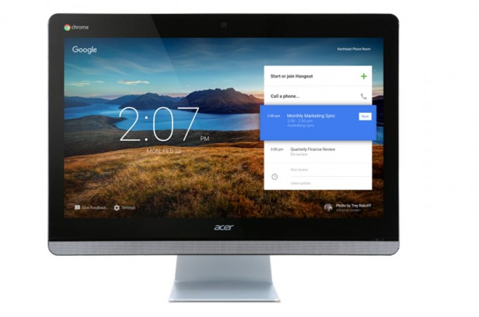 Google-Acer unveil all-in-one video-conference device Chromebase