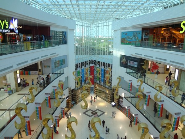 Inside Lulu Mall in Kochi