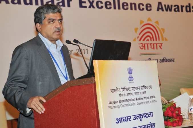 The Chairman, UIDAI, Shri Nandan Nilekani addressing at the first anniversary celebrations of Aadhaar launch of Unique Identification Authority of India (UIDAI), in New Delhi on September 29, 2011.