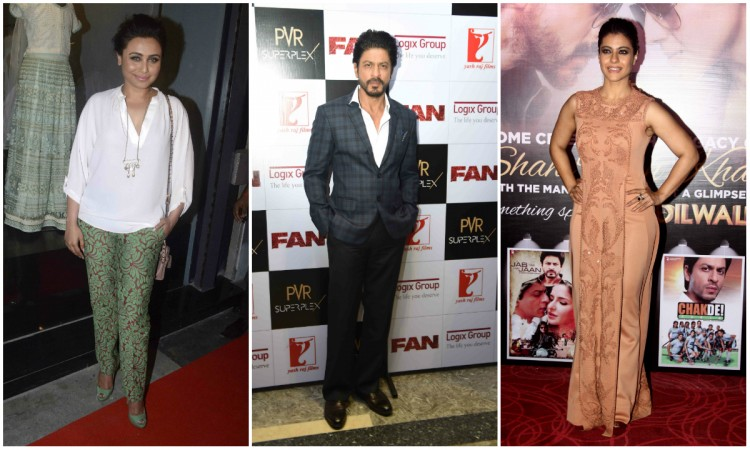 Rani Mukerji, Shah Rukh Khan, Kajol
