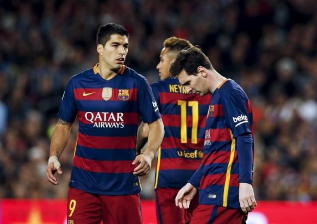 Luis Suarez Neymar Lionel Messi Barcelona