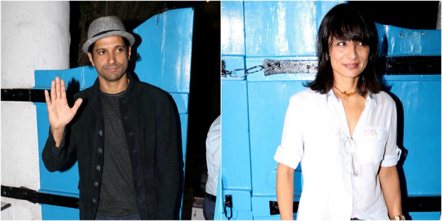 Farhan Akhtar and Adhuna Bhabani at