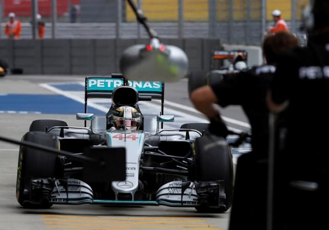 Lewis Hamilton Mercedes Russian GP
