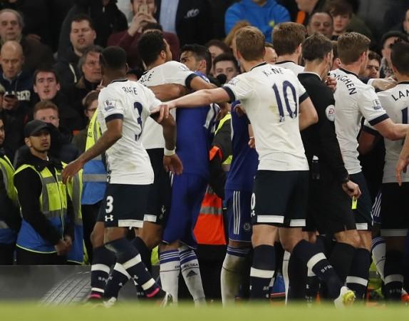 Chelsea Tottenham fight