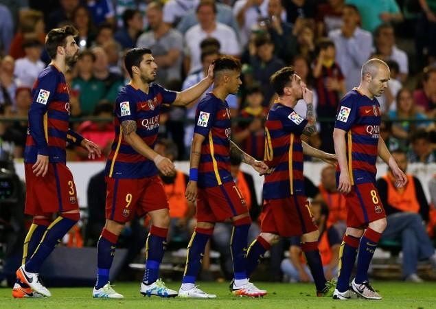 Pique Suarez Neymar Messi Iniesta Barcelona