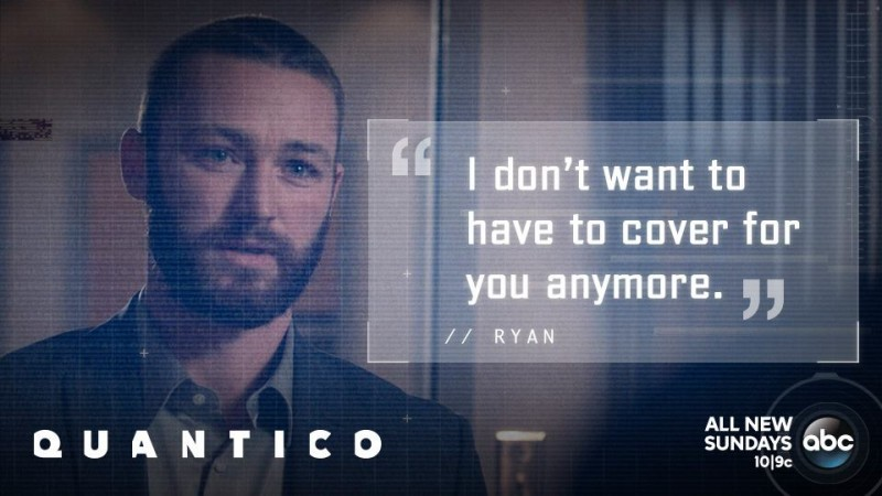 "Ryan may pay the ultimate sacrifice in Season 1 finale of ""Quantico"""