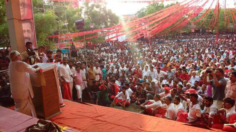 VS Achuthanandan speaks to mass in Kerala