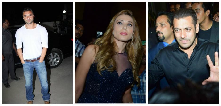 Sohail Khan, Iulia Vantur and Salman Khan