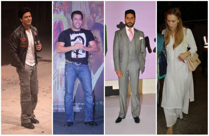 Shah Rukh Khan, Salman Khan, Abhishek Bachchan, Iulia Vantur