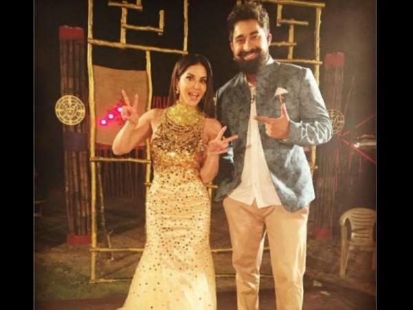 Sunny Leone and Rannvijay Singh