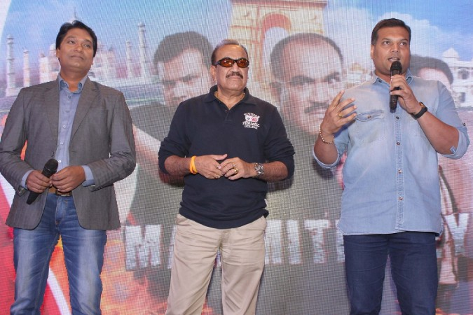 """""""CID"""" to return to small screen from June 4 onwards.  Pictured: Shivaji Satham, Aditya Srivastava, Dayanand Shetty of TV show """"CID"""" at a promotional programme in New Delhi, 2015."""