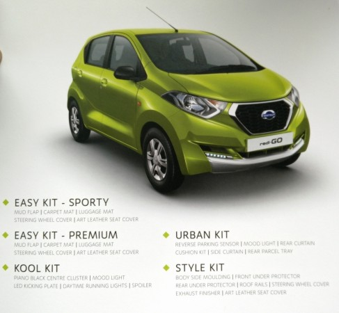 Datsun redi-Go 4 accessory kits explained