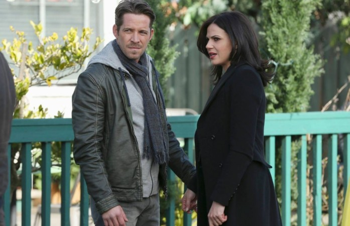 """Robin and Regina from """"Once Upon a Time"""""""
