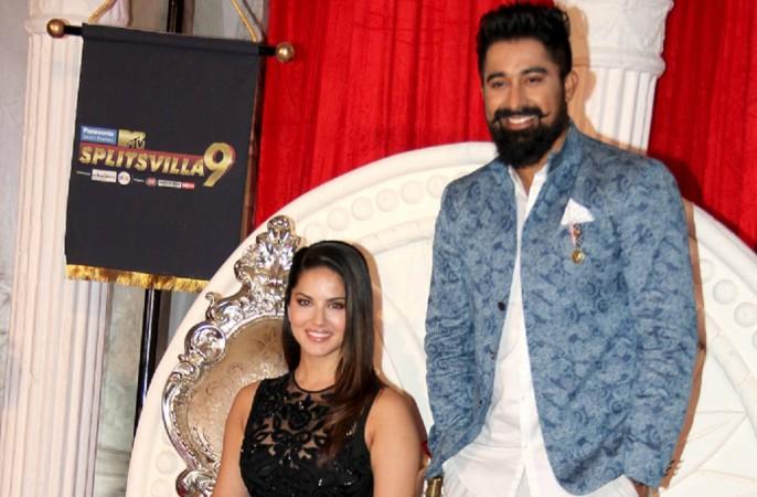 """Is """"Splitsvilla 9"""" fixed? Pictured: """"Splitsvilla 9"""" co-hosts Sunny Leone and Rannvijay Singh at the launch of """"Splitsvilla 9"""" in Mumbai"""