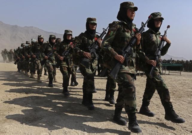 Women Afghan soldiers