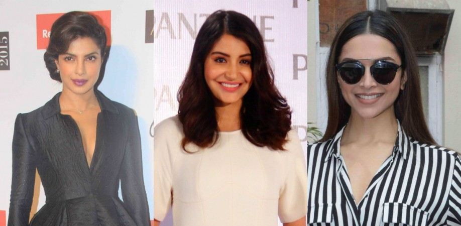 Priyanka Chopra, Anushka Sharma and Deepika Padukone