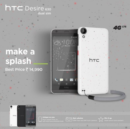 HTC Desire 630 dual SIM with Qualcomm Snapdragon SoC released in India