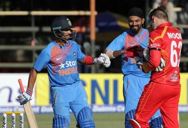India Mandeep Singh KL Rahul Zimbabwe