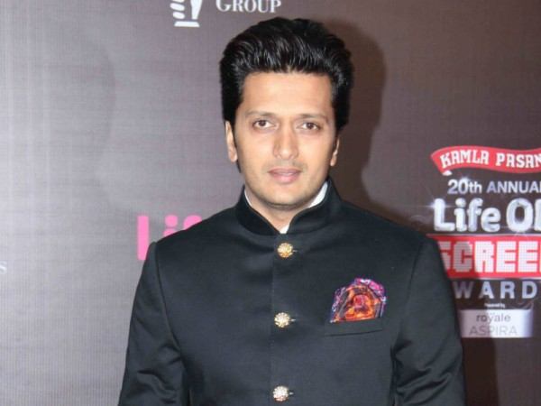 "Riteish Deshmukh, Vivek Oberoi and the team of ""Great Grand Masti"" to promote film on ""The Kapil Sharma Show."" Pictured: Riteish Deshmukh"